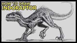 HOW TO DRAW  NDORAPTOR  JURASS C WORLD FALLEN K NGDOM Drawing Tutorial