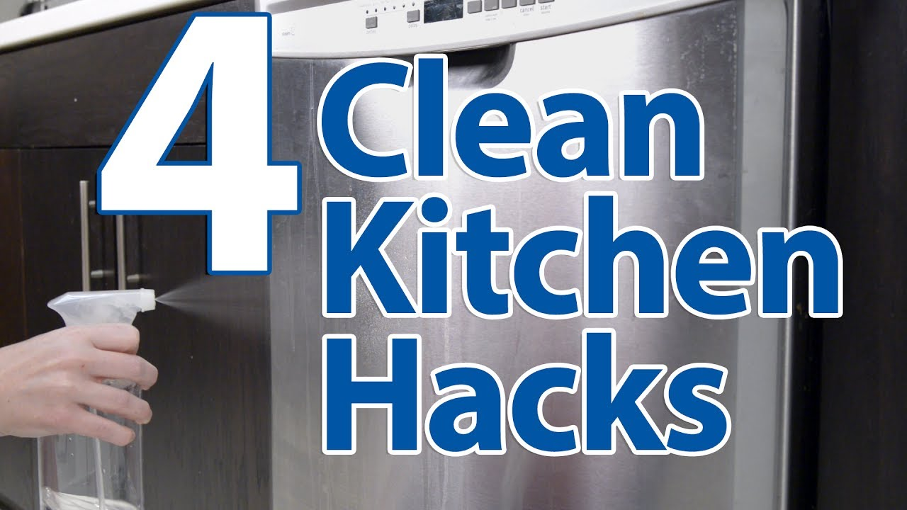 4 Clean Kitchen Hacks - YouTube