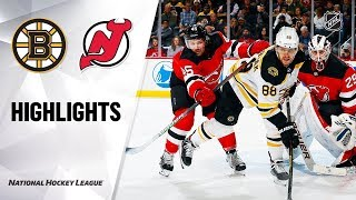 NHL Highlights | Bruins @ Devils 11/19/19