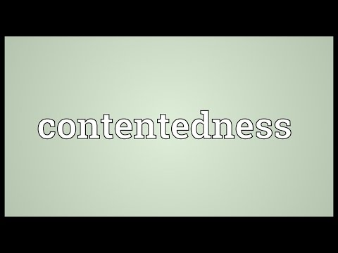 Contentedness Meaning