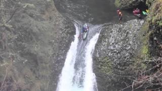Metlako Falls Winter Kayak