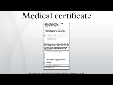 Medical certificate - YouTube