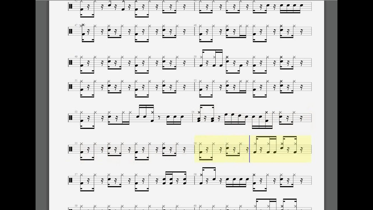 the day that never comes drum tabs