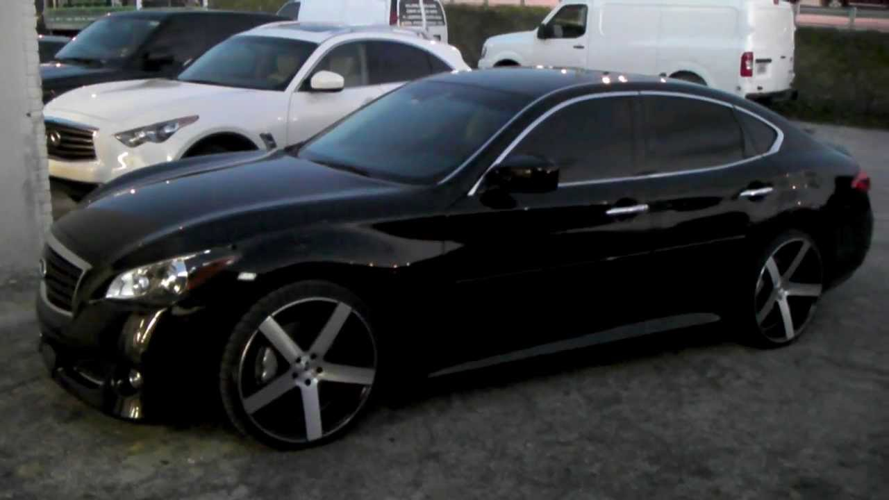 22 Inch Tires >> DUBSandTIRES.com 22 Inch XO Havana Concave Black wheels 2011 Infiniti M56 Rims & Tires Forgiato ...