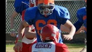 The Best Defensive 13 year old Football Player EVER!!