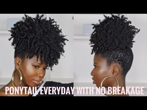 Wear a Puff EVERYDAY with NO TENSION/ BREAKAGE on Type 4 Hair ft. Invisibobble