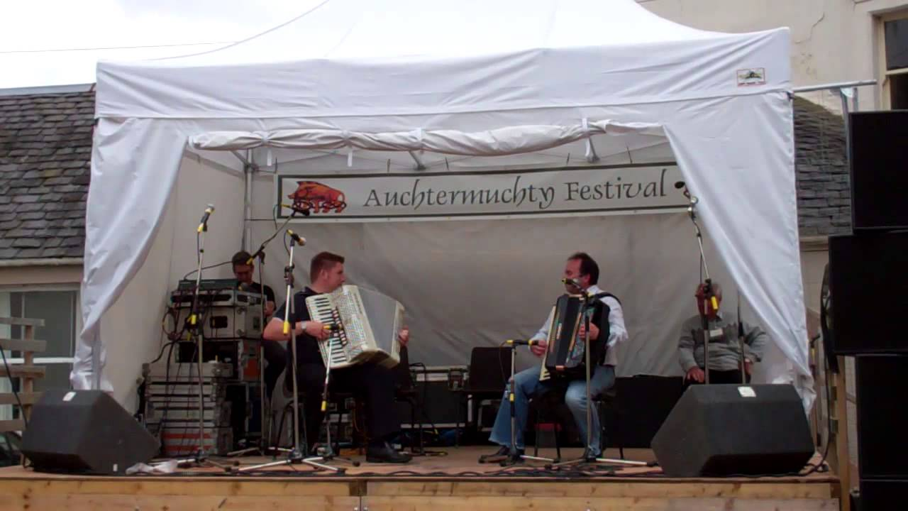 Traditional Scottish Accordion Music Auchtermuchty Festival Fife Scotland