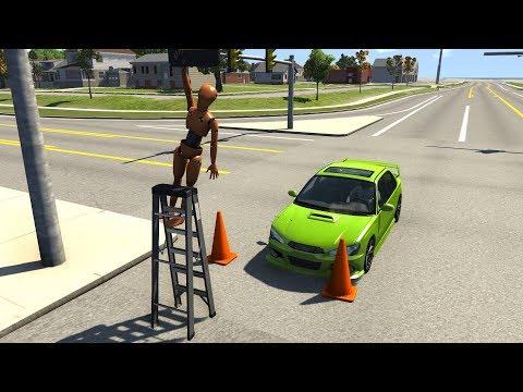 Crash Test Dummy Ladder Takedowns | BeamNG.drive