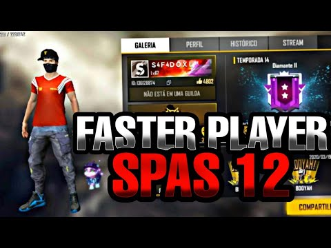 THE FASTER PLAYER SPAS12⚡⚡ PRO PLAYER DO NOTEBOOK!  FRACO-FREE FIRE PHOENIX OS