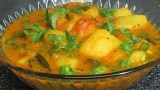 Spicy aloo curry (potato curry) by crazy4veggie.com