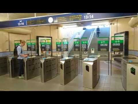 Sweden, Stockholm Central Station - walking from commuter trains to Vasagatan exit