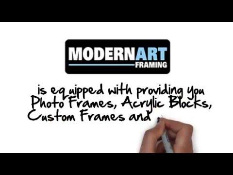 Modern Art Framing: Photo Frames, Custom Framing and More!