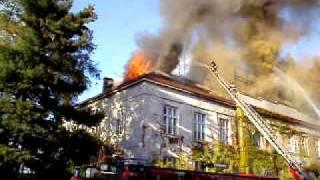 Pożar budynku dawny Wistom, Tomaszów cz1