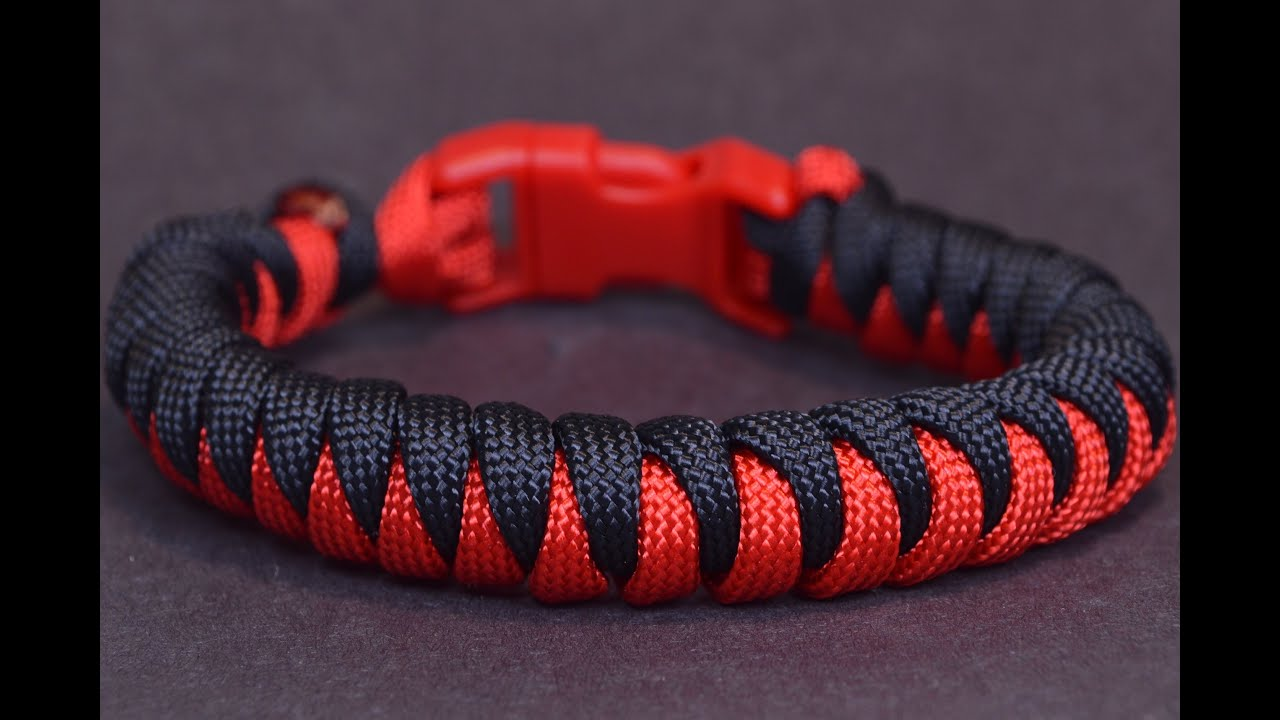 New video how to make the corkscrew paracord survival for Paracord leash instructions