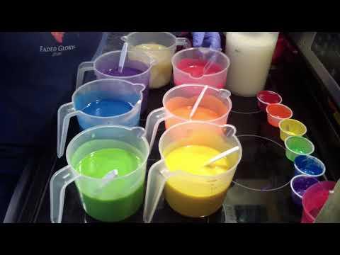 Making & Cutting Rainbow Sherbet Soap