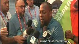Vladimir Guerrero ofrece detalles a la prensa antes de ser exaltado al Salón de la Fama 2018