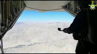 IAF Skydivers carried out a 'Skydive Landing' at Khardungla Pass, Ladakh