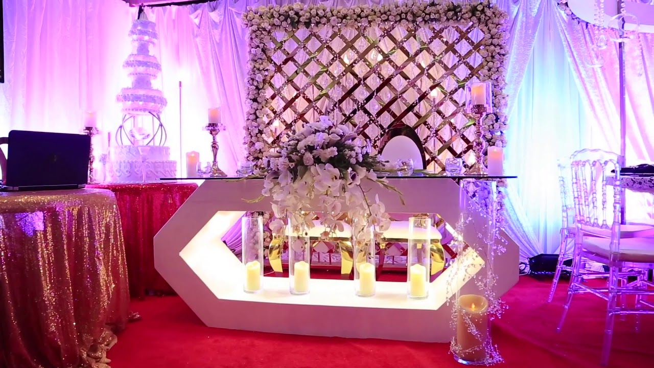 2018 decor trends at the Samanthas bridal wedding Fair - YouTube