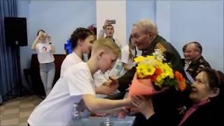 Урок мужества  Лаишевская СОШ №2  Встреча с Б К  Кузнецовым  Песня Катюша