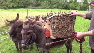 Making A Homemade Donkey Straddle For The Wicker Pannier Baskets