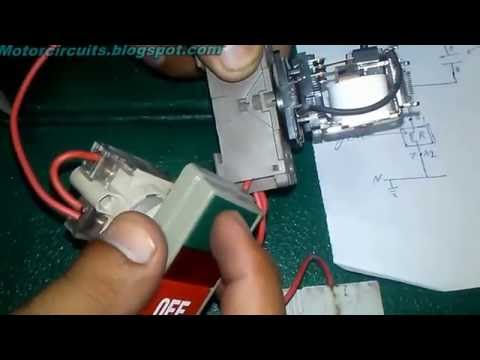 How To Hold Electrical Relay Switch With ON & OFF Push Button