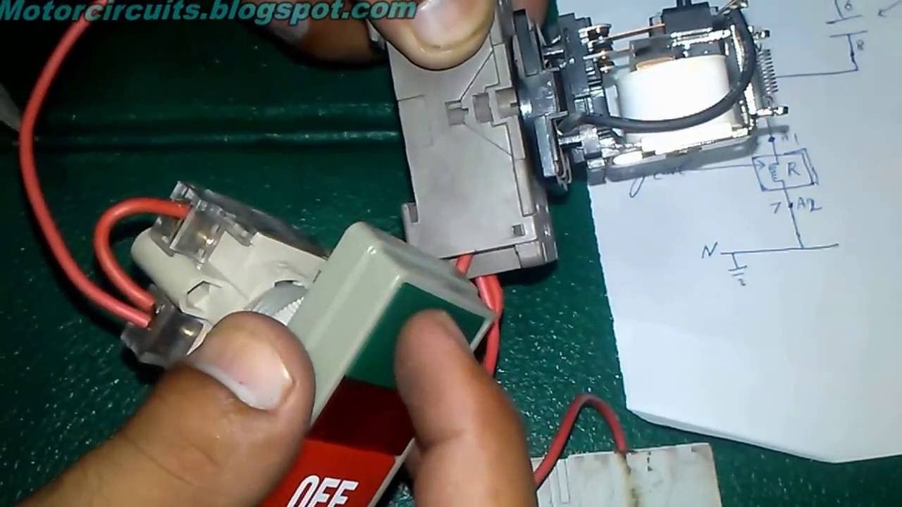How To Hold Electrical Relay Switch With On Off Push Button Youtube