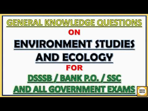 GK on Environment and Ecology   G.K based on Previous Papers   General Knowledge by Quick Notes