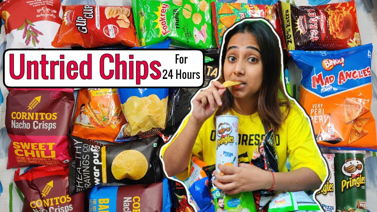 Download I only ate UNTRIED CHIPS for 24 Hours | Food Challenge | Chips & Dips