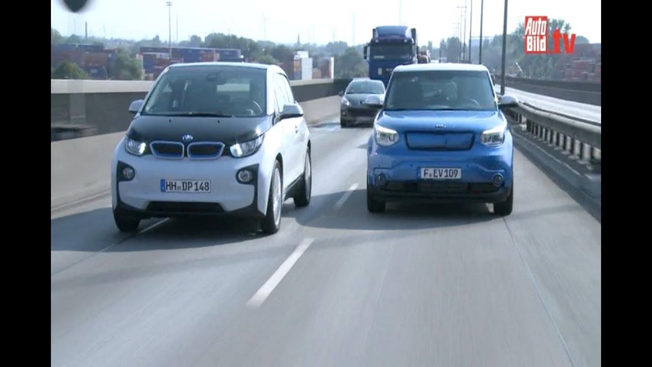 Kia Soul Ev >> Elektro-Sensation: KIA Soul EV vs. BMW i3 (2014) - YouTube