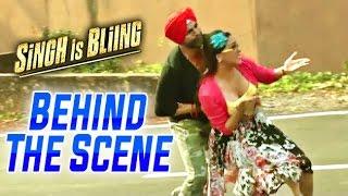 Singh Is Bliing  Behind The Scenes  Akshay Kumar amp Lara Dutta  Funny Road Scene
