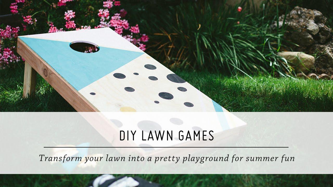 DIY Lawn Games | Summer Yard U0026 Outdoor Decor Tutorial | Mr. Kate