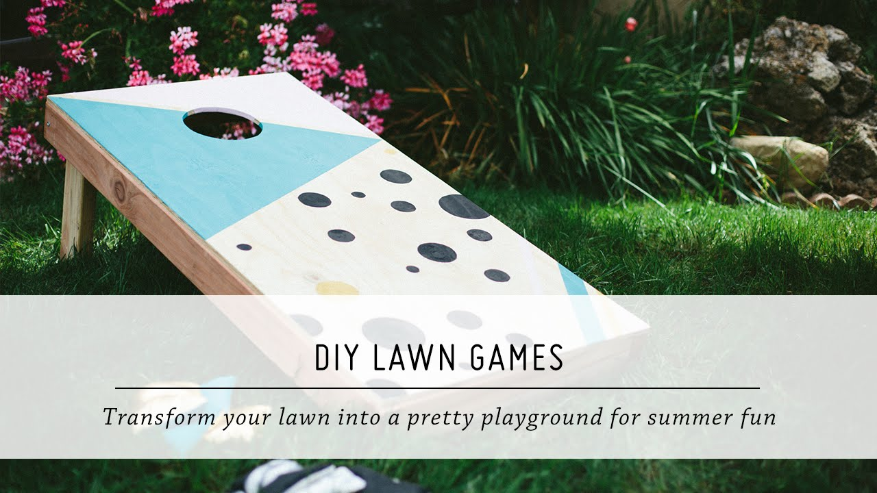 deb152455e DIY Lawn Games | Summer Yard & Outdoor Decor Tutorial | Mr. Kate - YouTube