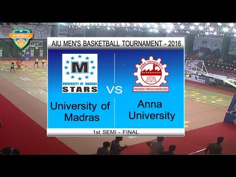 2016 UBAU AIU Inter-Zonal Basketball Semi Finals | University of Madras VS Anna University