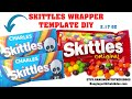 Free Skittles Wrapper Template Tutorial|Custom Candy Wrapper |Canva Template