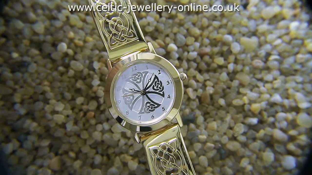 watch watches gemstones celtic wrist pin fantasy heart gold purple hyper knot valentine