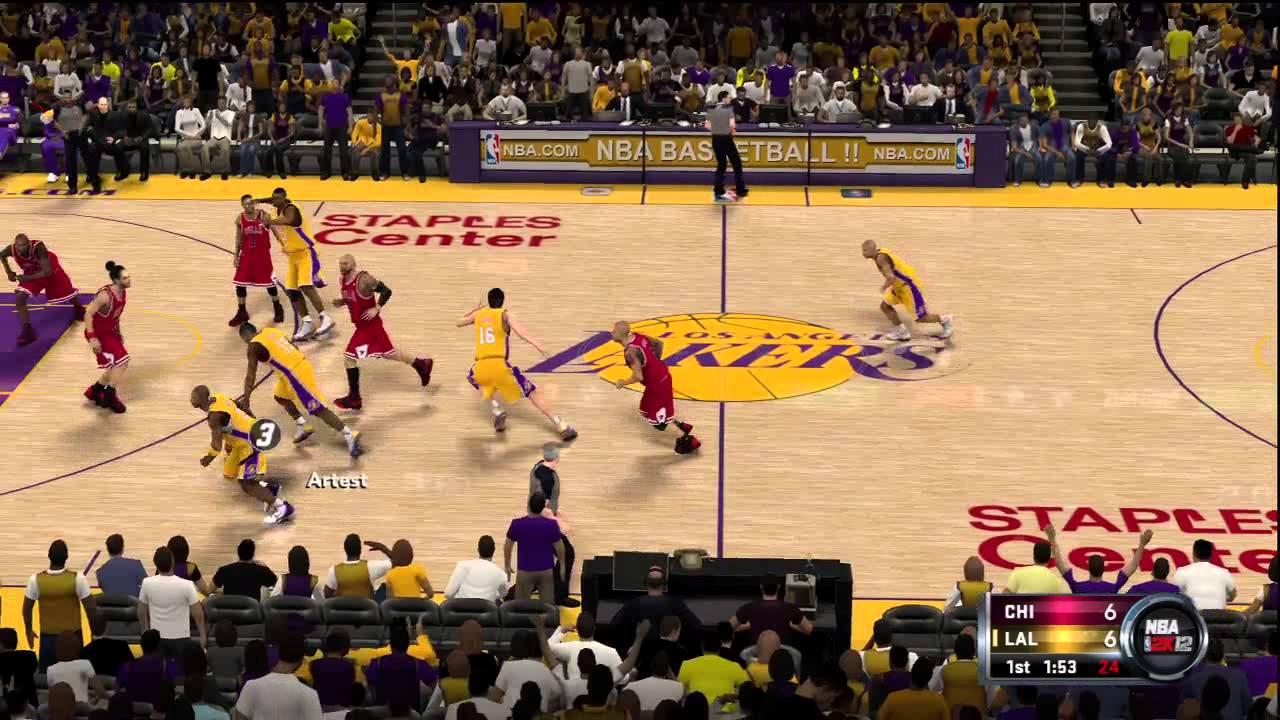 Download NBA 2k12 Official Gameplay! Los Angeles Lakers vs Chicago Bulls (Kobe vs Rose) HD