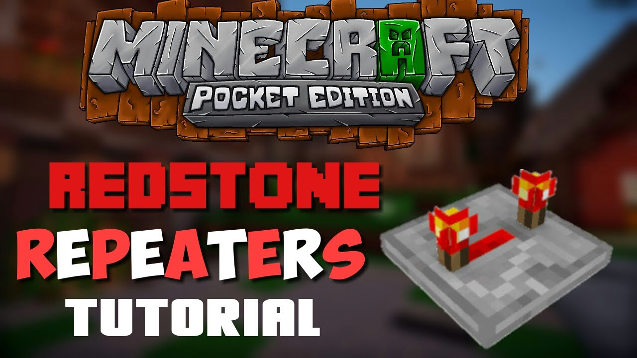 How does a redstone repeater work in minecraft pe