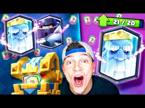 "ROYAL GHOST ""LEGENDARY King's Chest GEM $PREE"" CLASH ROYALE"