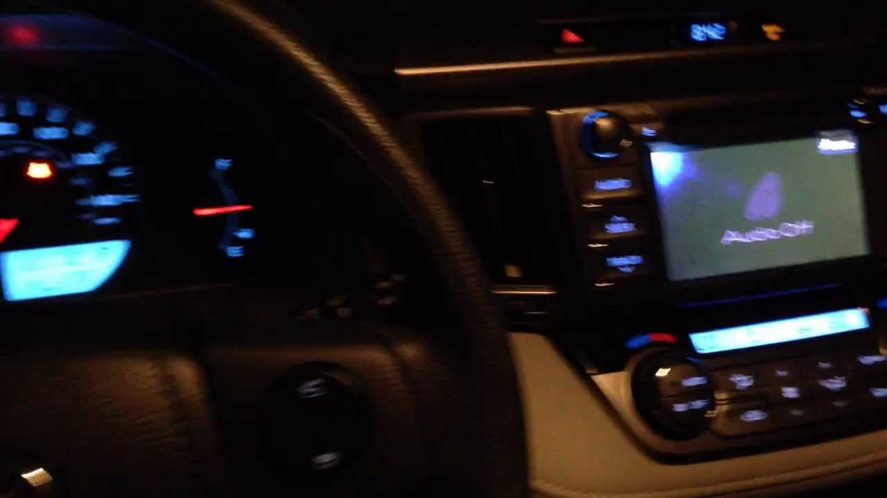 2013 Toyota Rav4 Quick Interior Look At Night Youtube