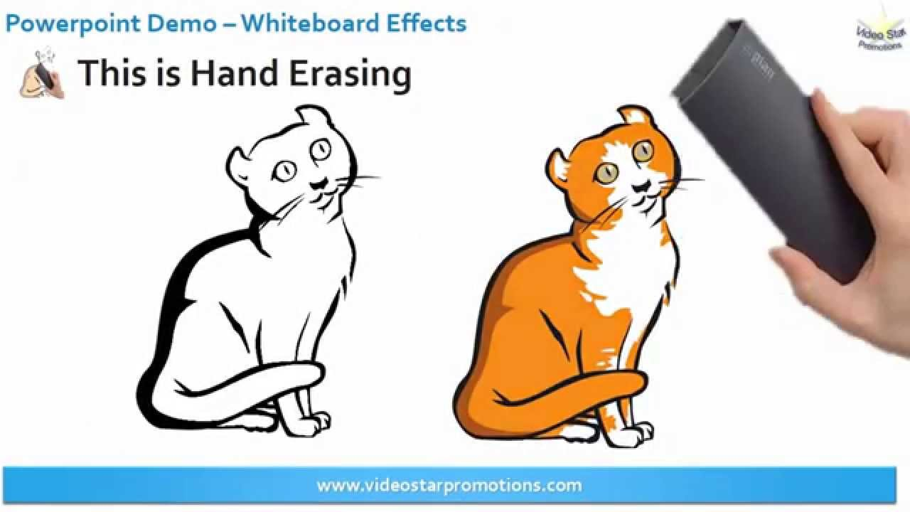 powerpoint animation demo whiteboard effects youtube