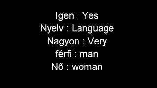 Learning Hungarian : A Magyar Nyelv Könnyű ( The Hungarian Is Easy )