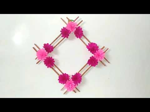 PAPER FLOWER MAKING~AMAZING CRAFT~HOW TO CREAT PAPER FLOWERS
