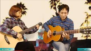 T.T. cafe guitar duo Hotel California (SKYSONIC JOY-2 & R2 )