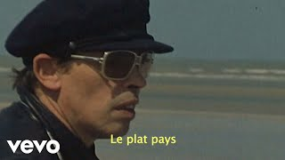 Gambar cover Jacques Brel - Le plat pays (Lyric Video)