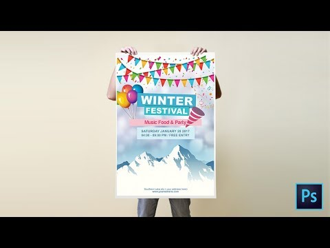 Learn To Design a Winter Festival Poster Design In Adobe Photoshop   Photoshop Tutorial