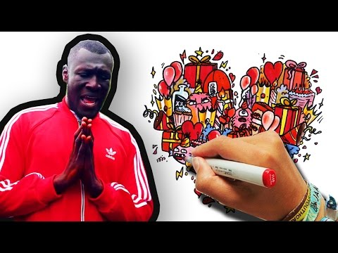 CREATING THE ARTWORK FOR STORMZY'S NEW SONG 'Birthday Girl' | Timelapse Drawing