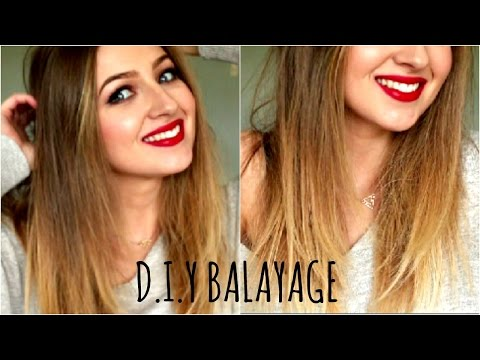 DIY Balayage or Ombre Hair at Home , LOreal Paris Glam Highlights , YouTube