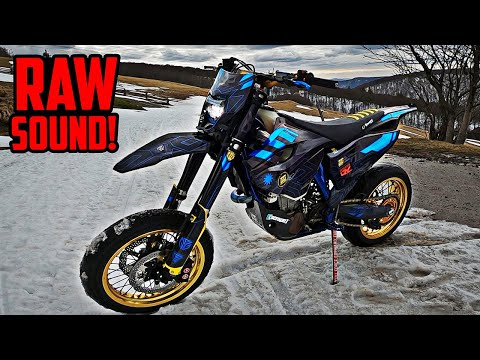 Husqvarna 501 In The Mountains | SOUND + WHEELIES