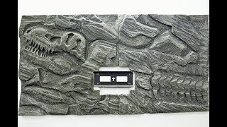 How to make Fossilized Rock Wall Panel using Polystyrene Foam.