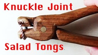 Knuckle Joint Salad Tongs From 1 Piece Of Wood (2015 Kitchen Utensil Build Challenge)